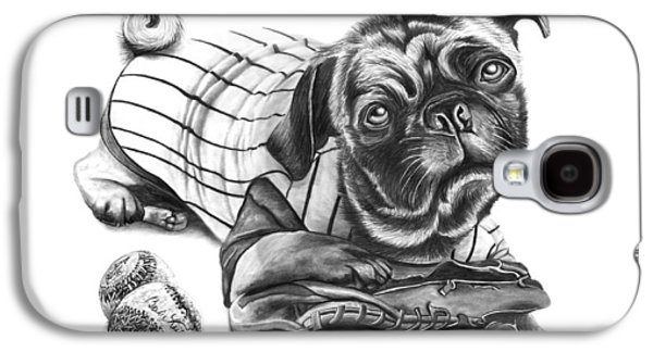 Baseball Uniform Galaxy S4 Cases - Pug Ruth  Galaxy S4 Case by Peter Piatt