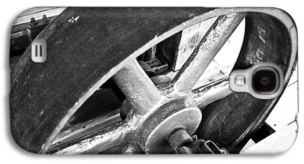 Machinery Galaxy S4 Cases - Pulley Wheel from Industrial Sawmill Galaxy S4 Case by Paul Velgos