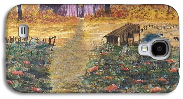 Shed Drawings Galaxy S4 Cases - Pumpkins Ready For The Harvest Galaxy S4 Case by Laurie Kidd