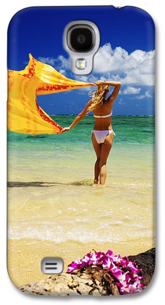 Youthful Galaxy S4 Cases - Punaluu Beach Vacation Galaxy S4 Case by Tomas del Amo - Printscapes