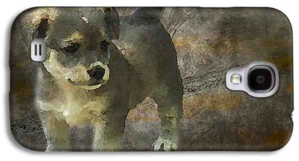 Puppy Digital Art Galaxy S4 Cases - Puppy Galaxy S4 Case by Svetlana Sewell
