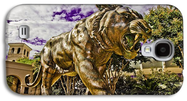 The Tiger Galaxy S4 Cases - Purple and Gold Galaxy S4 Case by Scott Pellegrin