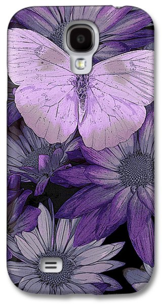 Butterflies Galaxy S4 Cases - Purple Butterfly Galaxy S4 Case by JQ Licensing