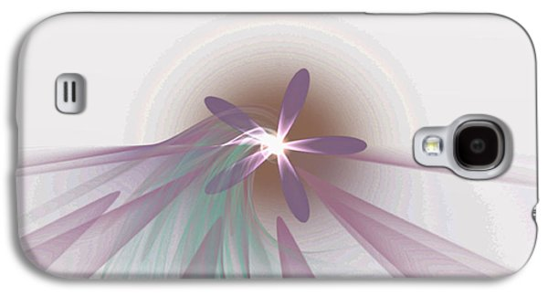 Manley Galaxy S4 Cases - Purple Fractal Flower Galaxy S4 Case by Gina Lee Manley