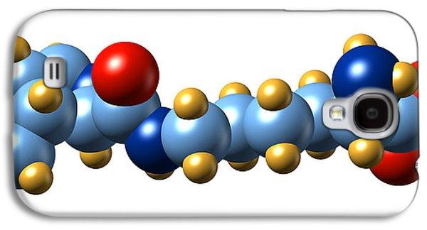 Prokaryote Galaxy S4 Cases - Pyrrolysine, Molecular Model Galaxy S4 Case by Dr Mark J. Winter