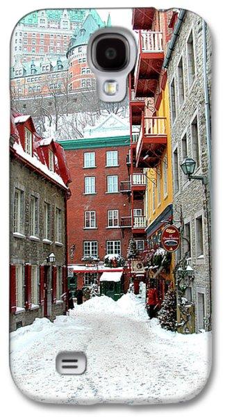 Quebec Galaxy S4 Cases - Quebec City Winter Galaxy S4 Case by Thomas R Fletcher