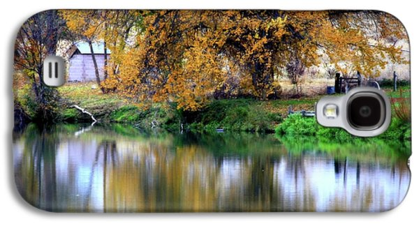 Fall Trees Fall Color Galaxy S4 Cases - Quiet Autumn Day Galaxy S4 Case by Carol Groenen