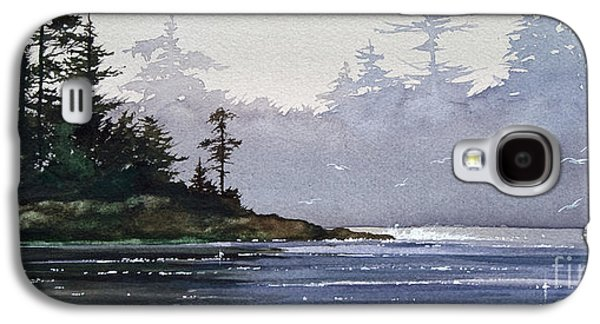 Landscape Greeting Cards Galaxy S4 Cases - Quiet Shore Galaxy S4 Case by James Williamson