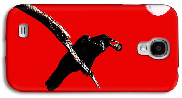 Wingsdomain Galaxy S4 Cases - Quoth The Raven Nevermore . Red Galaxy S4 Case by Wingsdomain Art and Photography