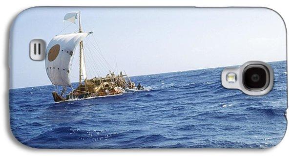 Papyrus Galaxy S4 Cases - Ra-2 Papyrus Boat In The Atlantic Ocean Galaxy S4 Case by Ria Novosti