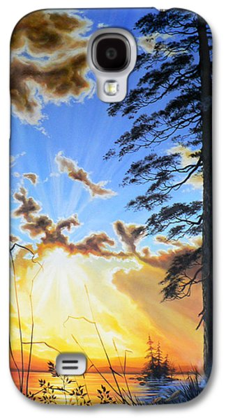 Sunset Posters Galaxy S4 Cases - Radiant Reflection Galaxy S4 Case by Hanne Lore Koehler