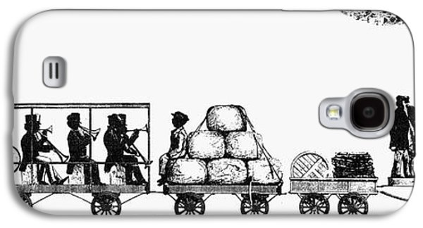African-american Galaxy S4 Cases - RAILROADING, 1830s Galaxy S4 Case by Granger