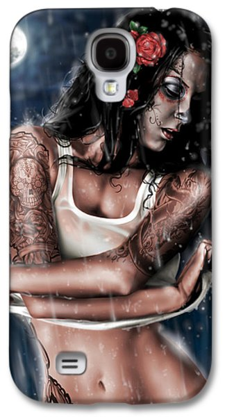 Tattoo Galaxy S4 Cases - Rain When I Die Galaxy S4 Case by Pete Tapang