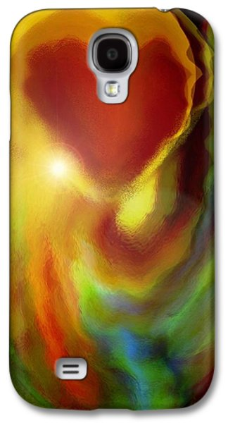 Abstract Expression Galaxy S4 Cases - Rainbow of Love Galaxy S4 Case by Linda Sannuti