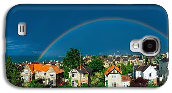 The Wooden Cross Galaxy S4 Cases - Rainbow Over Housing, Monkstown, Co Galaxy S4 Case by The Irish Image Collection