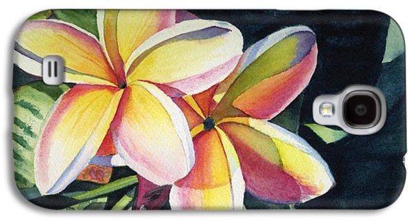 Flowers Galaxy S4 Cases - Rainbow Plumeria Galaxy S4 Case by Marionette Taboniar