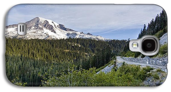 Mountain Road Galaxy S4 Cases - Rainier Journey Galaxy S4 Case by Mike Reid