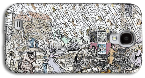 Historical Pictures Galaxy S4 Cases - Raining Cats And Dogs Galaxy S4 Case by Sheila Terry