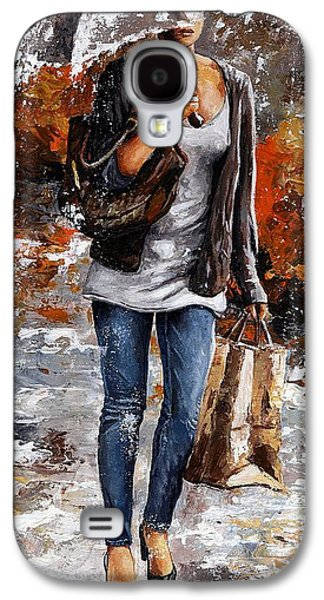 Recently Sold -  - Girl Galaxy S4 Cases - Rainy day - Woman of New York 06 Galaxy S4 Case by Emerico Imre Toth