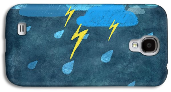 Rain Storm Galaxy S4 Cases - Rainy Day With Storm And Thunder Galaxy S4 Case by Setsiri Silapasuwanchai
