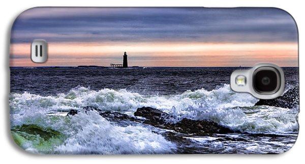 Maine Lighthouses Galaxy S4 Cases - Ram Island Ledge Light Galaxy S4 Case by Rick Berk