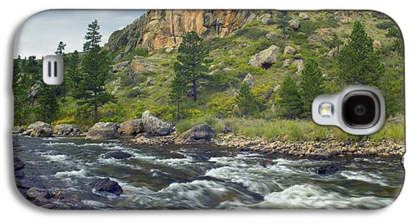 Poudre Galaxy S4 Cases - Rapids With Cliffs Above Cache La Galaxy S4 Case by Tim Fitzharris