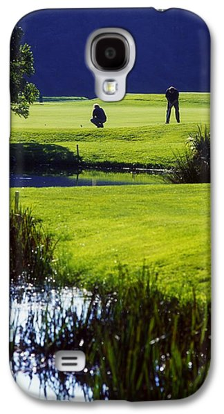 Man Looking Down Galaxy S4 Cases - Rathsallagh Golf Club, Co Wicklow Galaxy S4 Case by The Irish Image Collection