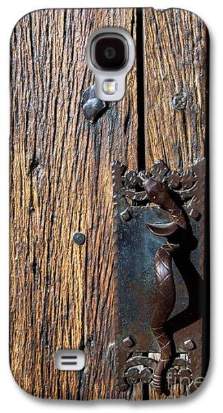 Wooden Door Galaxy S4 Cases - Rattlesnake Door handle Mission San Xavier del Bac Galaxy S4 Case by Thomas R Fletcher