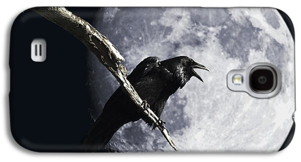 Wing Tong Galaxy S4 Cases - Raven Barking at the Moon Galaxy S4 Case by Wingsdomain Art and Photography