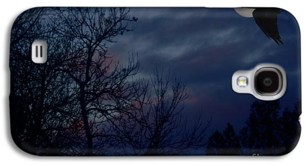 Abstract Digital Photographs Galaxy S4 Cases - Raven in the Full Moon Abstract Galaxy S4 Case by Marjorie Imbeau