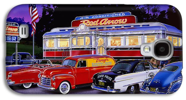 Old Trucks Photographs Galaxy S4 Cases - Red Arrow Diner Galaxy S4 Case by Bruce Kaiser