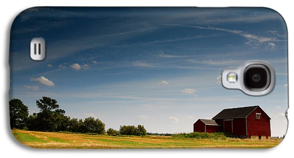 Red Barns Galaxy S4 Cases - Red Barn Galaxy S4 Case by Cale Best