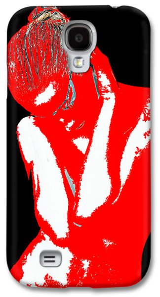 Jewelry Galaxy S4 Cases - Red Black Drama Galaxy S4 Case by Naxart Studio