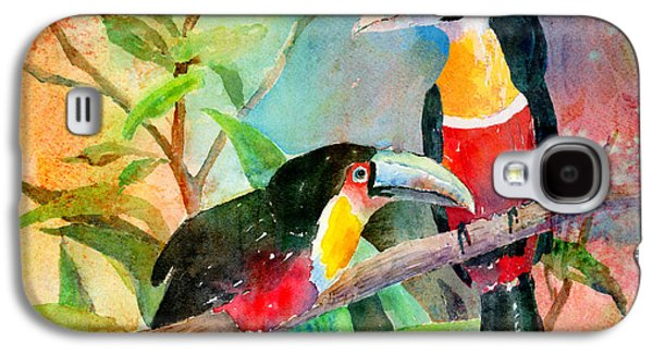 Red-breasted Toucans Galaxy S4 Case by Arline Wagner