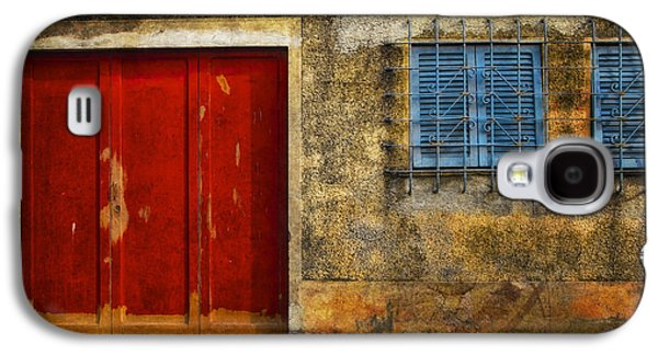 Best Sellers -  - Abstract Digital Pyrography Galaxy S4 Cases - Red Doors Galaxy S4 Case by Mauro Celotti