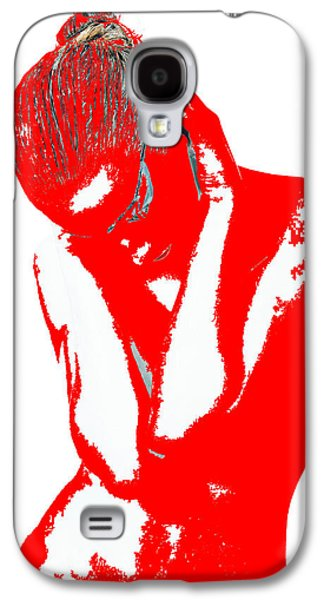 Jewelry Galaxy S4 Cases - Red Drama Galaxy S4 Case by Naxart Studio