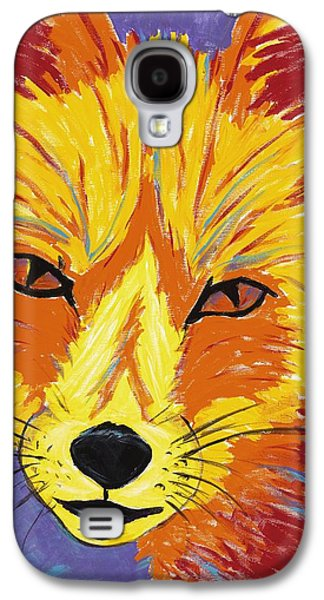 Fort Collins Paintings Galaxy S4 Cases - Red Fox Galaxy S4 Case by Peggy Quinn