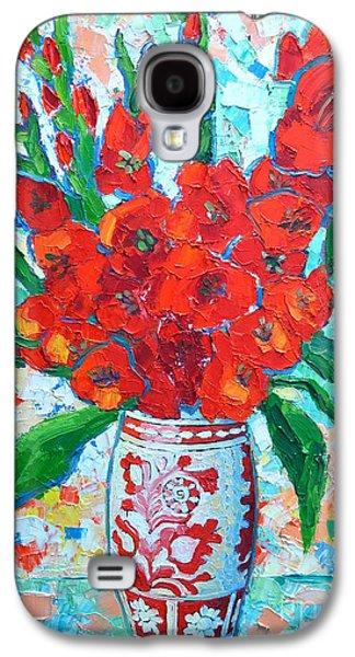 Red Gladiolus Galaxy S4 Case by Ana Maria Edulescu