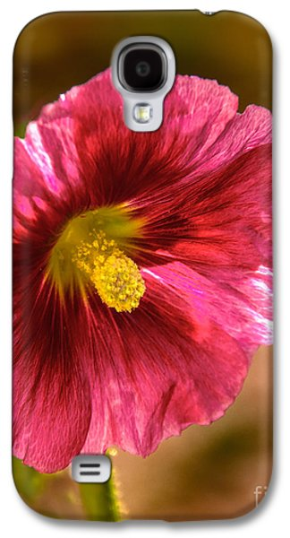 Haybale Galaxy S4 Cases - Red Hollyhock Galaxy S4 Case by Robert Bales