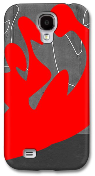 Abstracts Galaxy S4 Cases - Red People Galaxy S4 Case by Naxart Studio