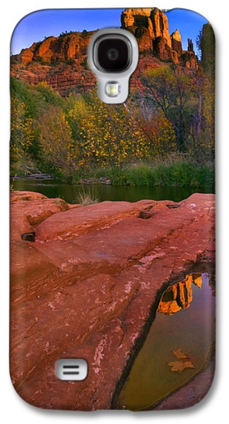 Cathedral Rock Photographs Galaxy S4 Cases - Red Rock Reflection Galaxy S4 Case by Mike  Dawson