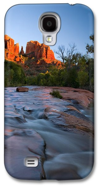 Cathedral Rock Photographs Galaxy S4 Cases - Red Rock Sunset Galaxy S4 Case by Mike  Dawson