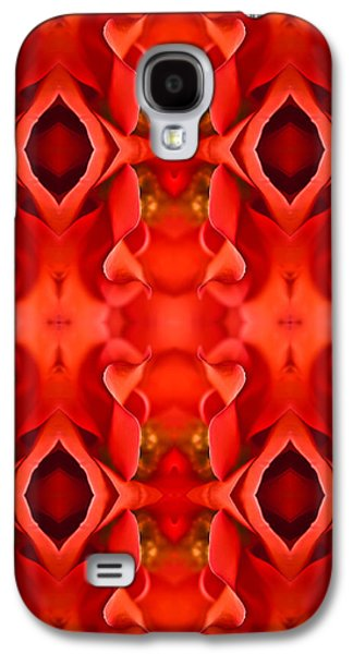Symetry Galaxy S4 Cases - Red Rose Petals Galaxy S4 Case by  Onyonet  Photo Studios