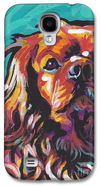 Spaniels Galaxy S4 Cases - Red Ruby Galaxy S4 Case by Lea