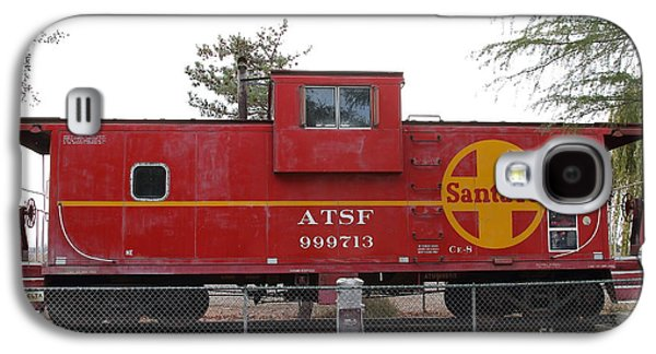 Old Caboose Galaxy S4 Cases - Red Sante Fe Caboose Train . 7D10328 Galaxy S4 Case by Wingsdomain Art and Photography