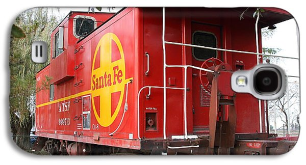 Old Caboose Galaxy S4 Cases - Red Sante Fe Caboose Train . 7D10332 Galaxy S4 Case by Wingsdomain Art and Photography