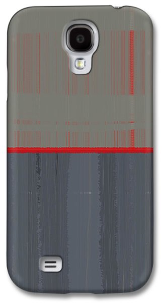 Modern Abstract Galaxy S4 Cases - Red Stripe Galaxy S4 Case by Naxart Studio