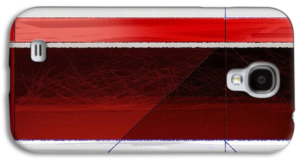 Blue Abstracts Galaxy S4 Cases - Red Sunset Galaxy S4 Case by Naxart Studio