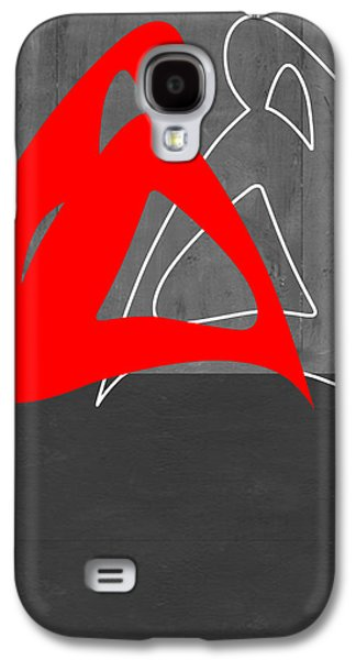 Abstract Forms Galaxy S4 Cases - Red Woman Galaxy S4 Case by Naxart Studio