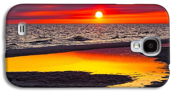 Ocean Sunset Galaxy S4 Cases - Reflections Galaxy S4 Case by Janet Fikar